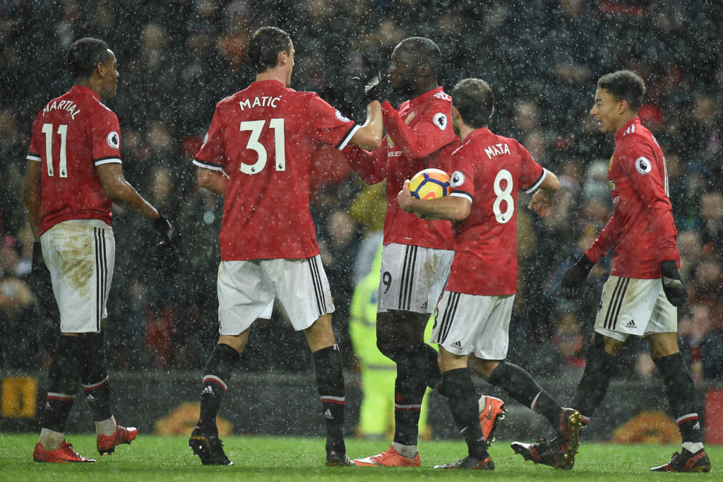 United celebrate their third