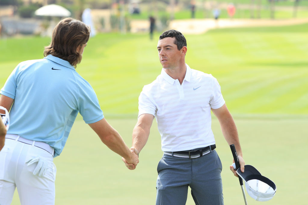 Rory McIlroy finished third in the Championship as Fleetwood triumphed last year.
