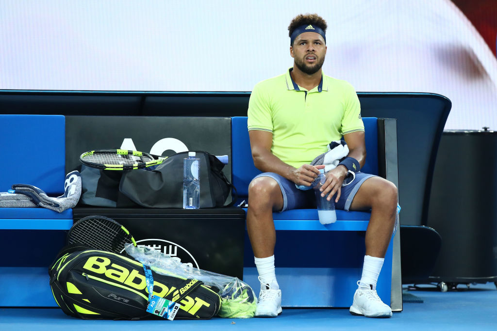 Tsonga lost his cool after getting irritated by a vocal member in the crowd.