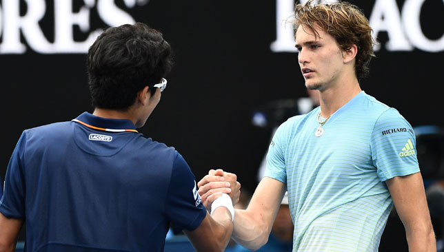 Australian Open: Alexander Zverev beaten in five sets by Hyeon Chung