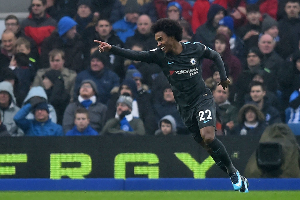 Willian scored just minuted after Hazard's goal.