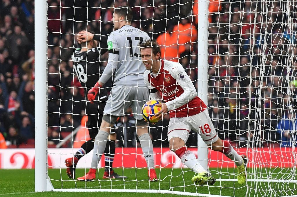 Mornreal put Arsenal ahead after heading in a corner.