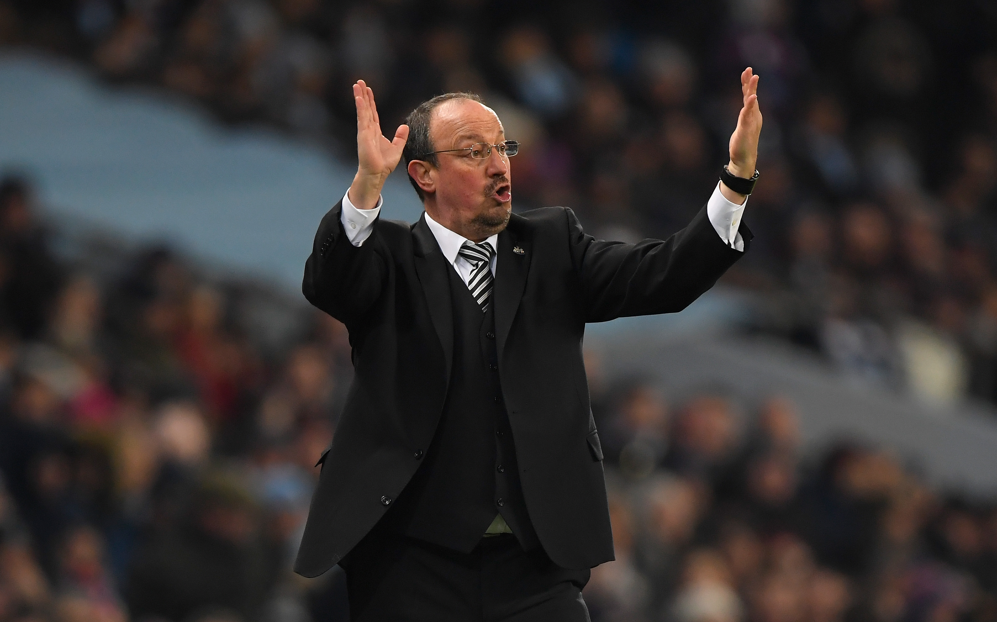 Rafael Benitez is enduring a frustrating time at Newcastle
