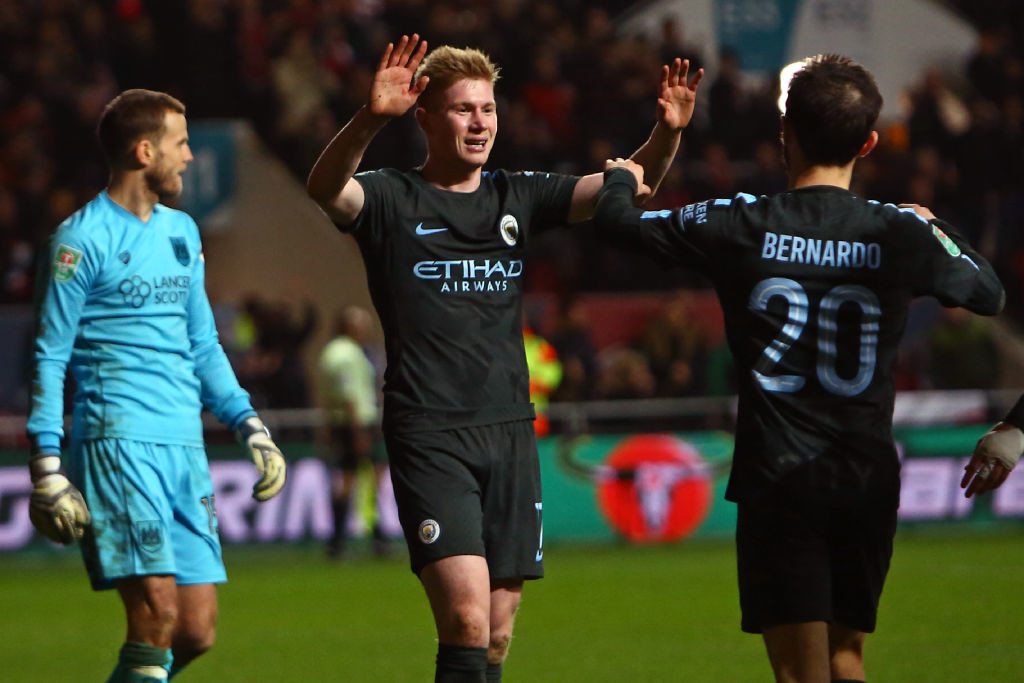 Guardiola's men beat Bristol City to enter the final of the Carabao Cup.