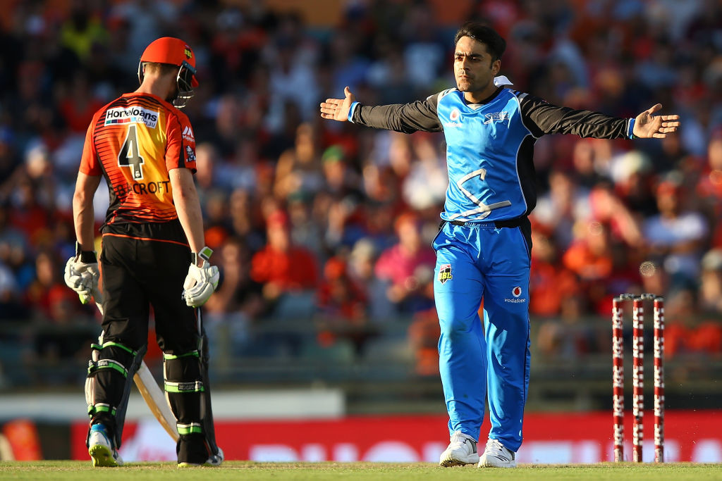 Rashid Khan's frugal leg-spin will invite many takers.