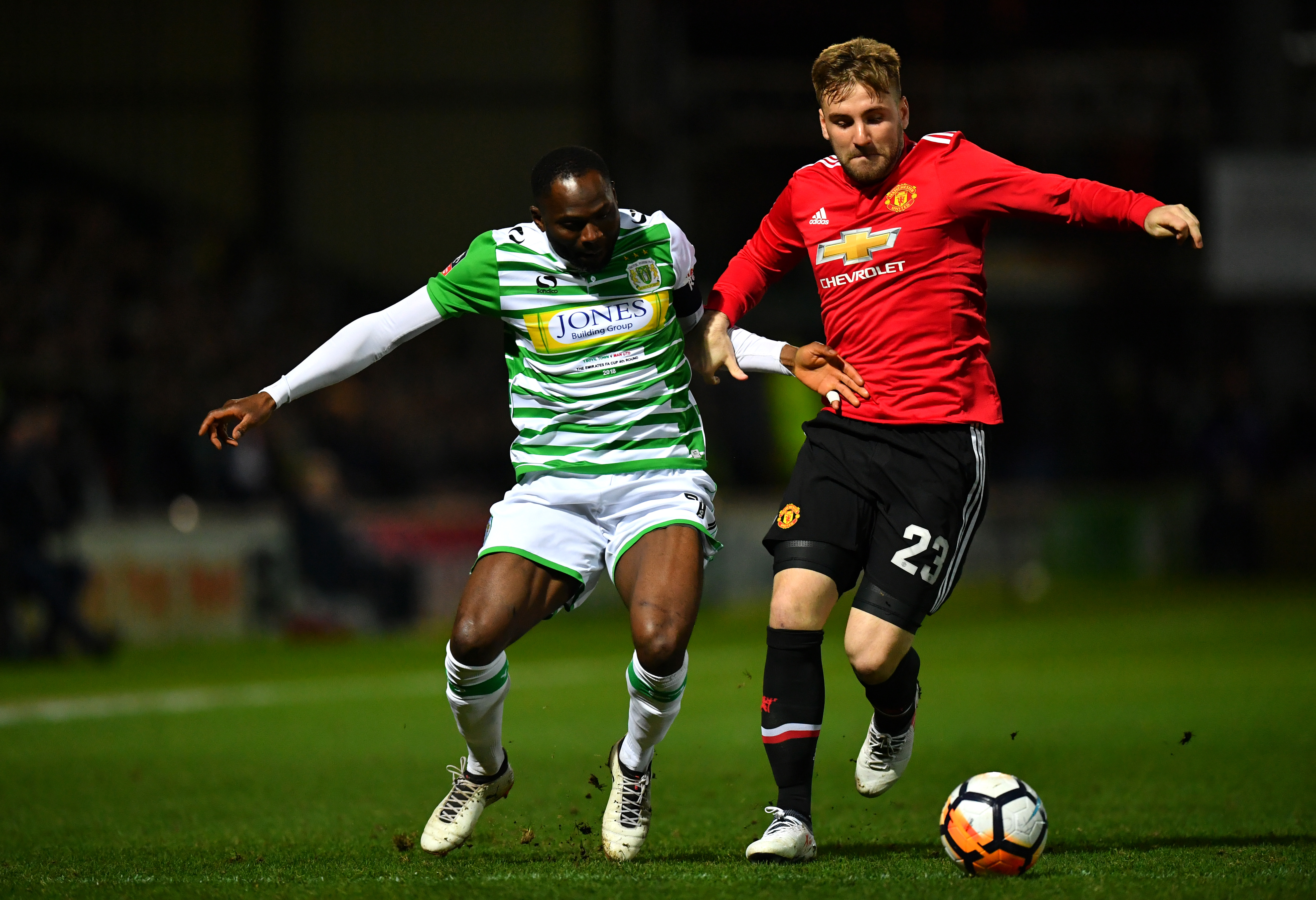 Luke Shaw started at Yeovil Town.