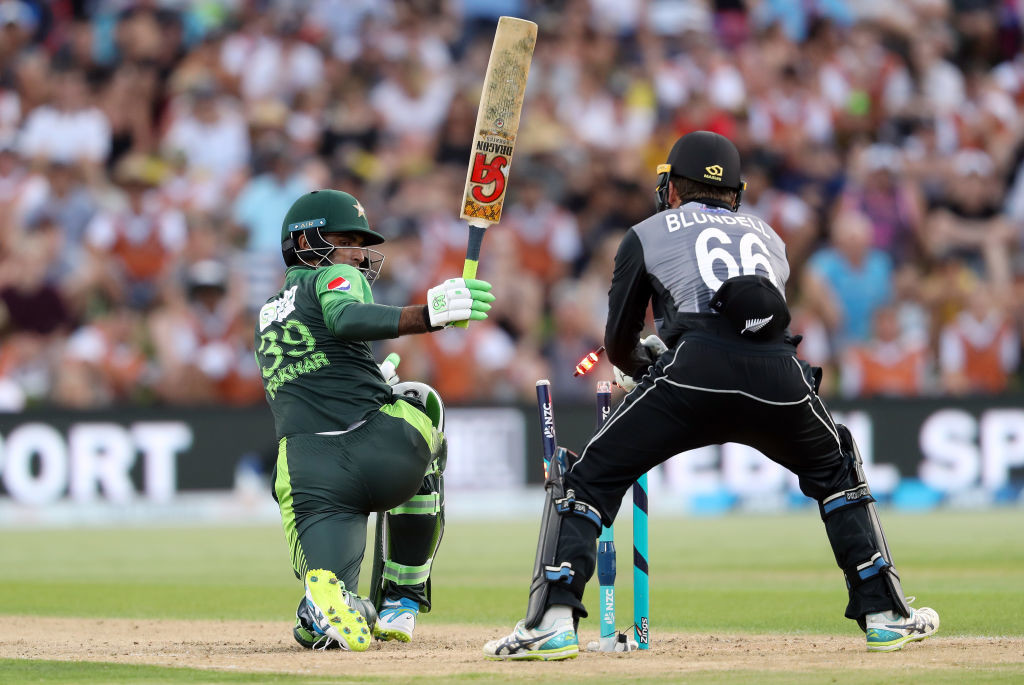 Fakhar Zaman's attacking innings put the pressure on New Zealand.