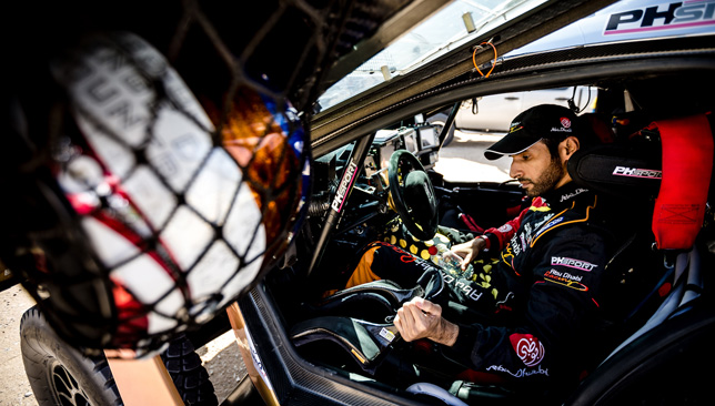 Al-Attiyah leads opening day of Dakar, Loeb hits trouble