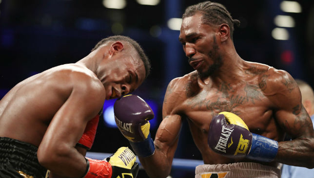 Robert Easter Jr. punches Javier Fortuna during their bout.