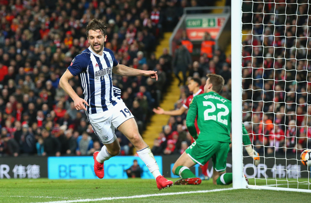"""""""This is easy"""" - WBA's Jay Rodriguez scored twice in four minutes at Anfield."""