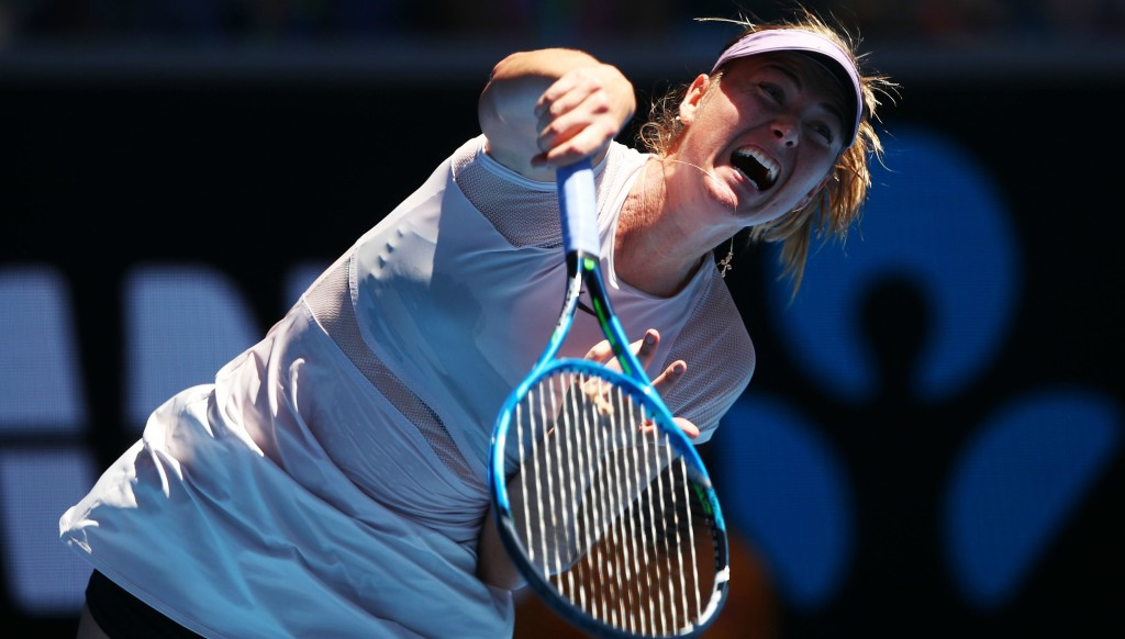 Back playing: Maria Sharapova