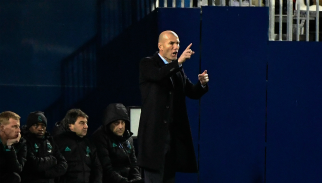 Real Madrid coach Zinedine Zidane focused on the present
