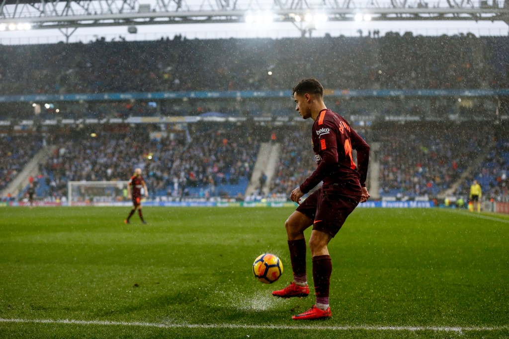 Coutinho struggled in tough conditions at Espanyol.