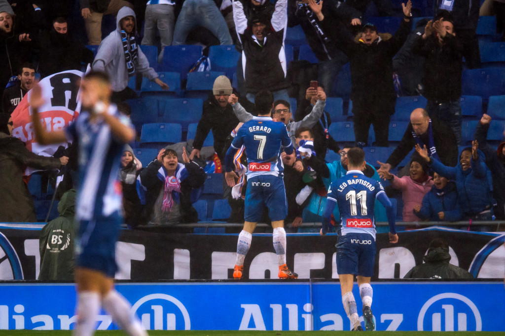 Gerard Moreno looked to have set Espanyol on their way to victory.