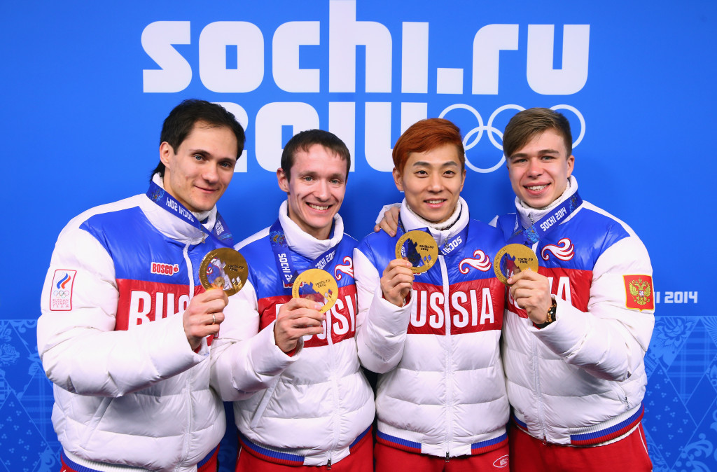 Viktor Ahn (second from right) has led a last-ditch appeal against the ban.