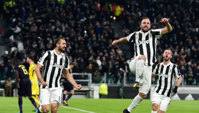 Gonzalo Higuain's goals, two misses in Champions League draw