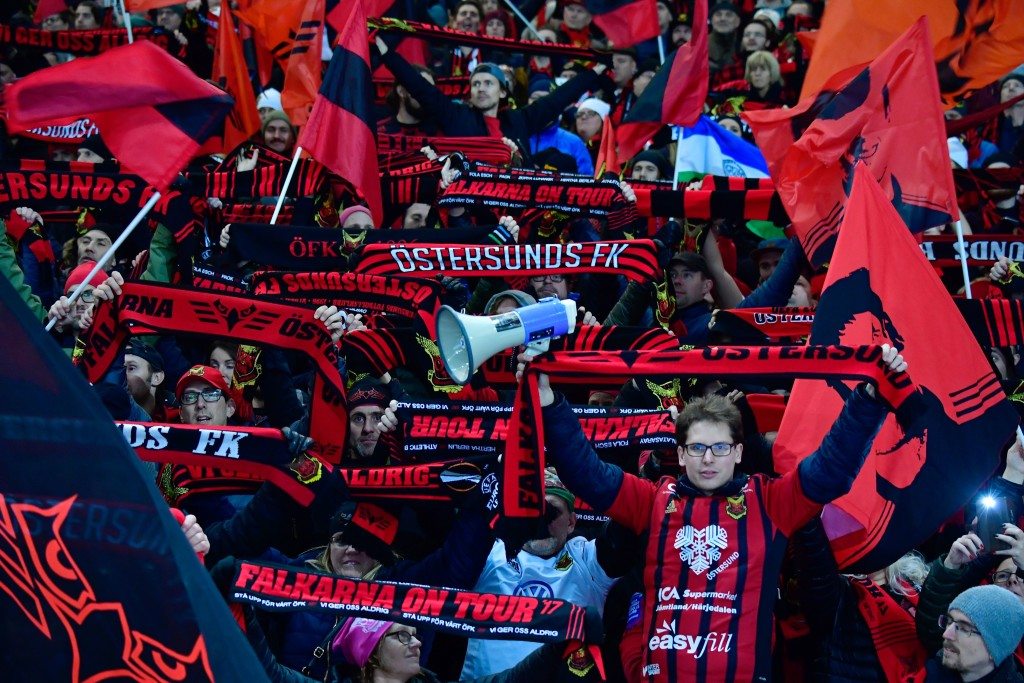 Ostersund will promise a raucous atmosphere - and cold weather.