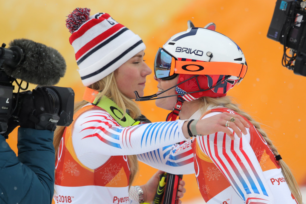 Changing of the guard: Mikaela Shiffrin bested Lindsey Vonn to nab silver.