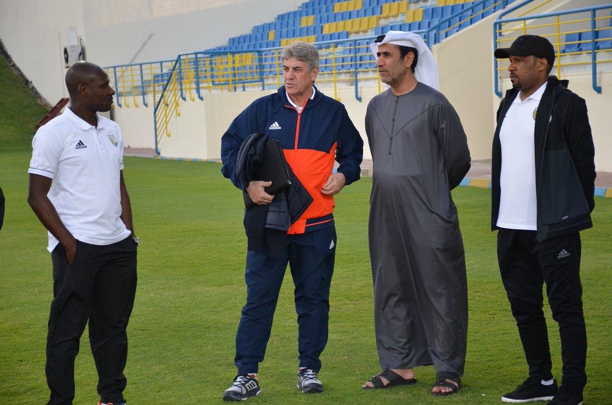 Al Dhafra coach Gjoko Hadzievski (Al Dhafra).