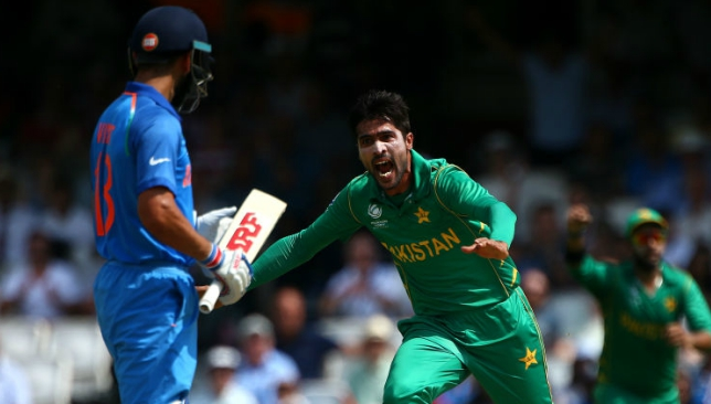Amir rattled India in the Champions Trophy final.