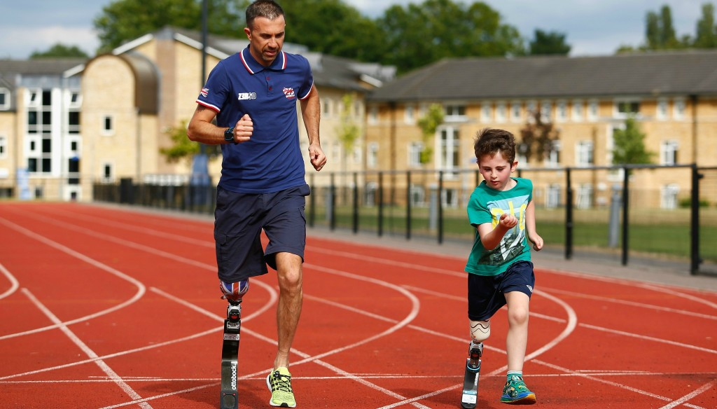 Lewis says giving back to younger, para athletes is a big passion of his.