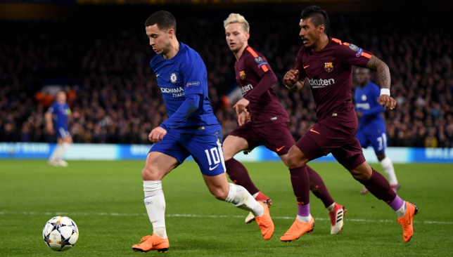 Image result for eden hazard vs barcelona 2018
