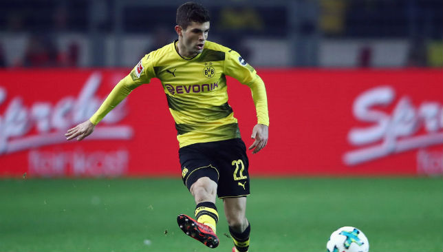 Christian Pulisic in action.