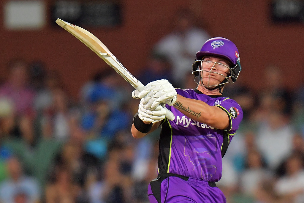 ADELAIDE, AUSTRALIA - JANUARY 17:  D'Arcy Short of the Hobart Hurricanes bats during the Big Bash League match between the Adelaide Strikers and the Hobart Hurricanes at Adelaide Oval on January 17, 2018 in Adelaide, Australia.  (Photo by Daniel Kalisz/Getty Images)