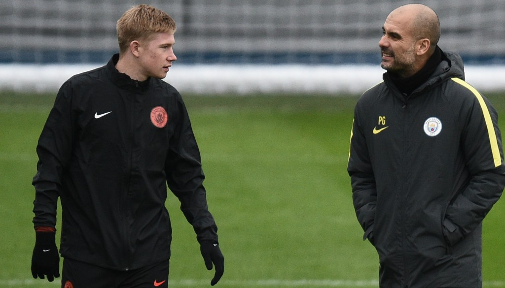 Sane has heaped praise on team-mate Kevin De Bruyne and coach Pep Guardiola.