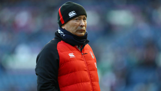 Unhappy: Eddie Jones.