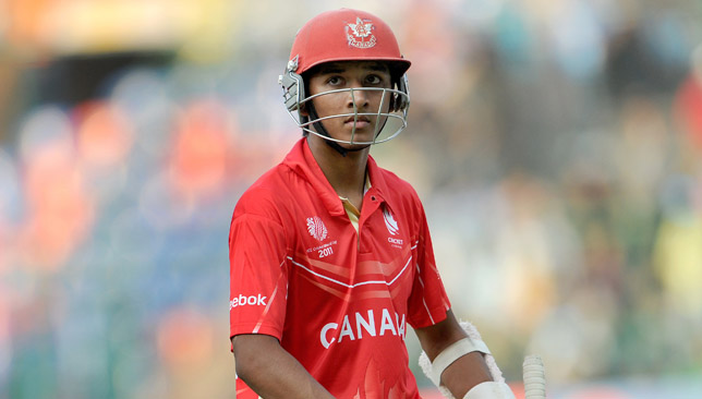 Canada's sixteen year-old batsman Nitish