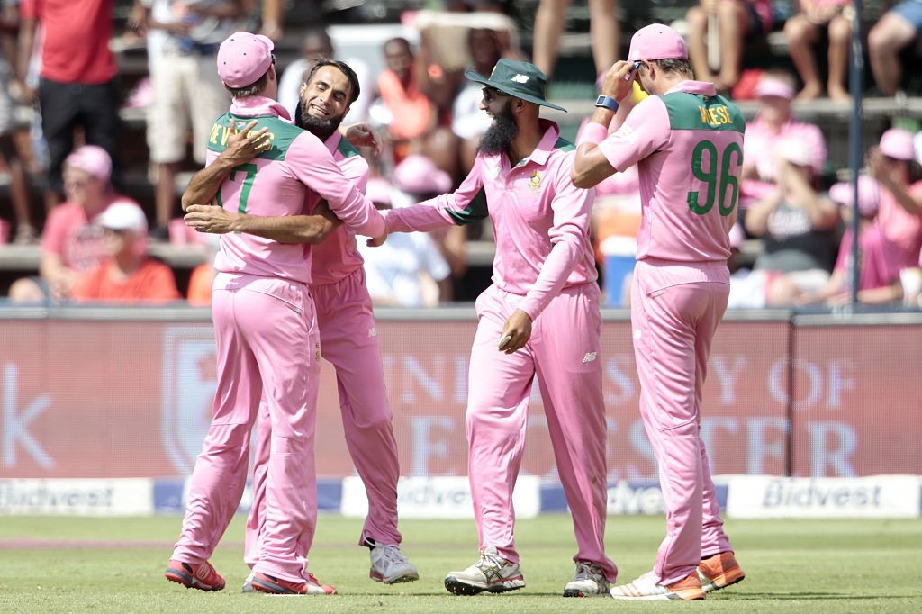The Proteas will line up in their pink jerseys on Saturday.