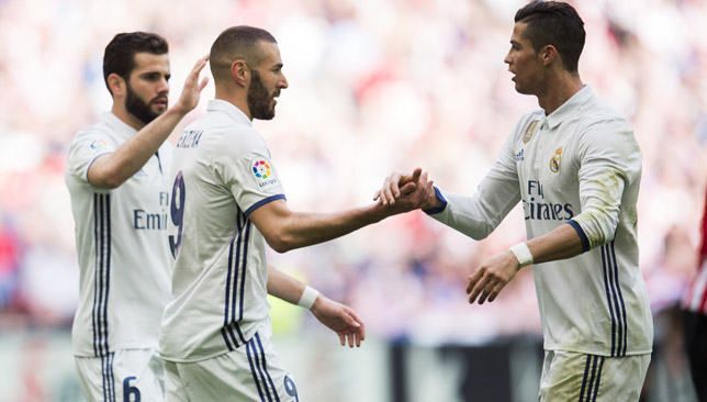 Attacking force: Benzema and Ronaldo