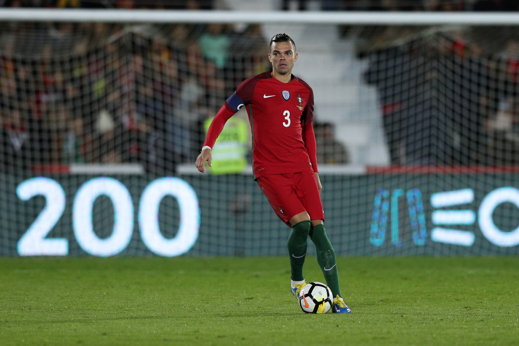 VISEU, PORTUGAL -NOVEMBER 10: Portugal defender Pepe during the match between Portugal and Saudi Arabia InternationalFriendly at Estadio do Fontelo, on November 10, 2017 in Viseu, Portugal. (Photo by Carlos Rodrigues/Getty Images)