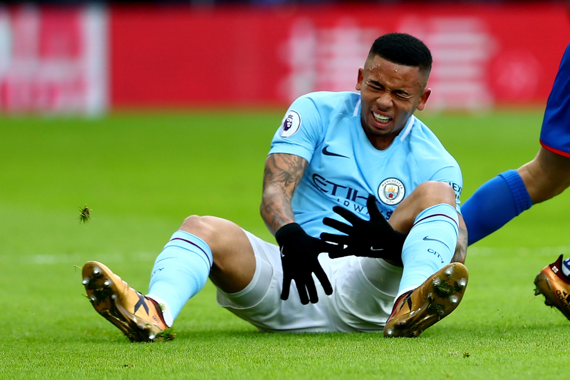 Gabriel Jesus was injured at Crystal Palace on December 31.