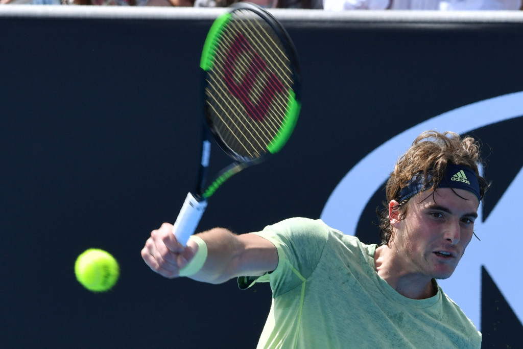 Into the second round: Stefanos Tsitsipas.
