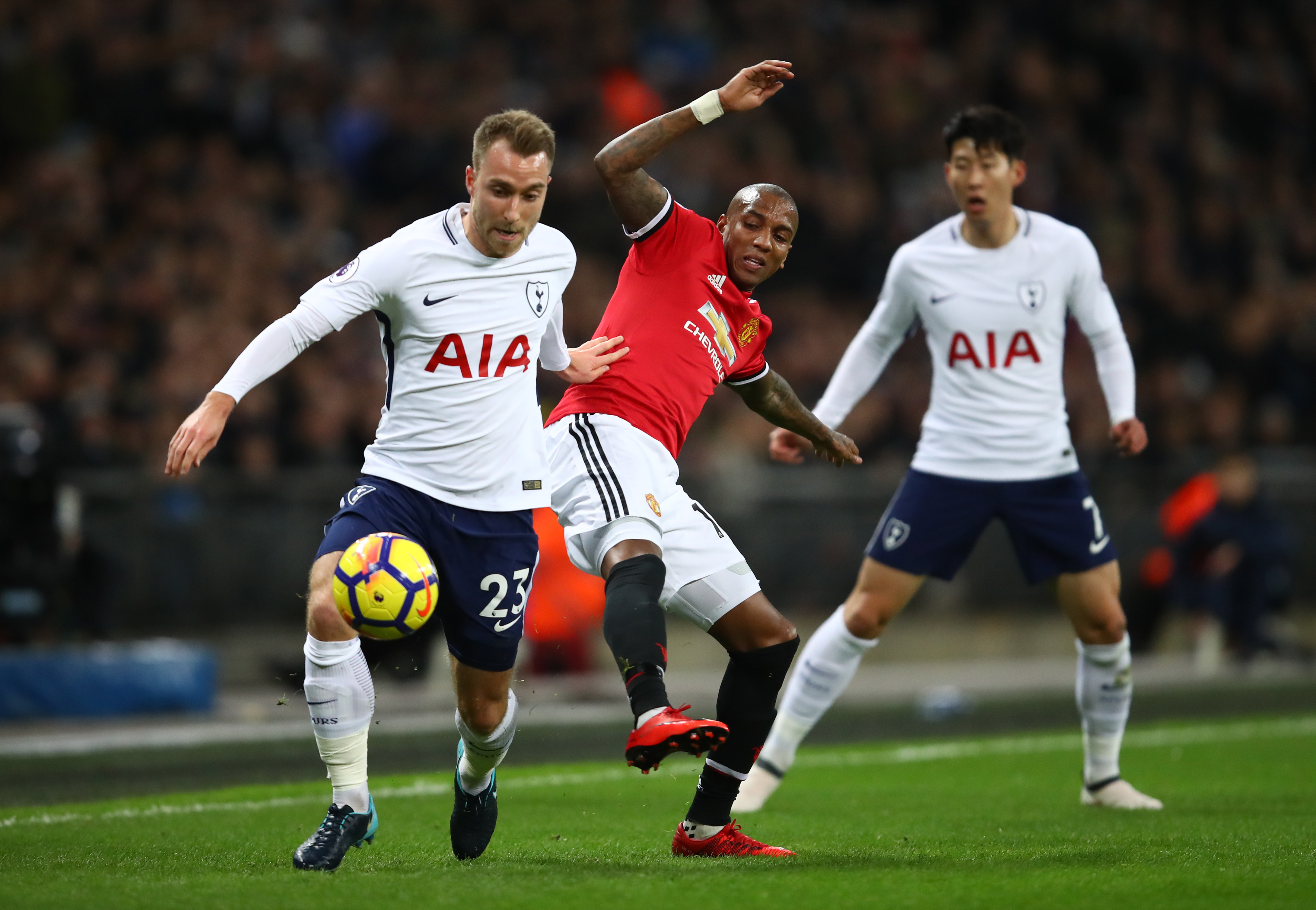 Christian Eriksen was back in action for Spurs.