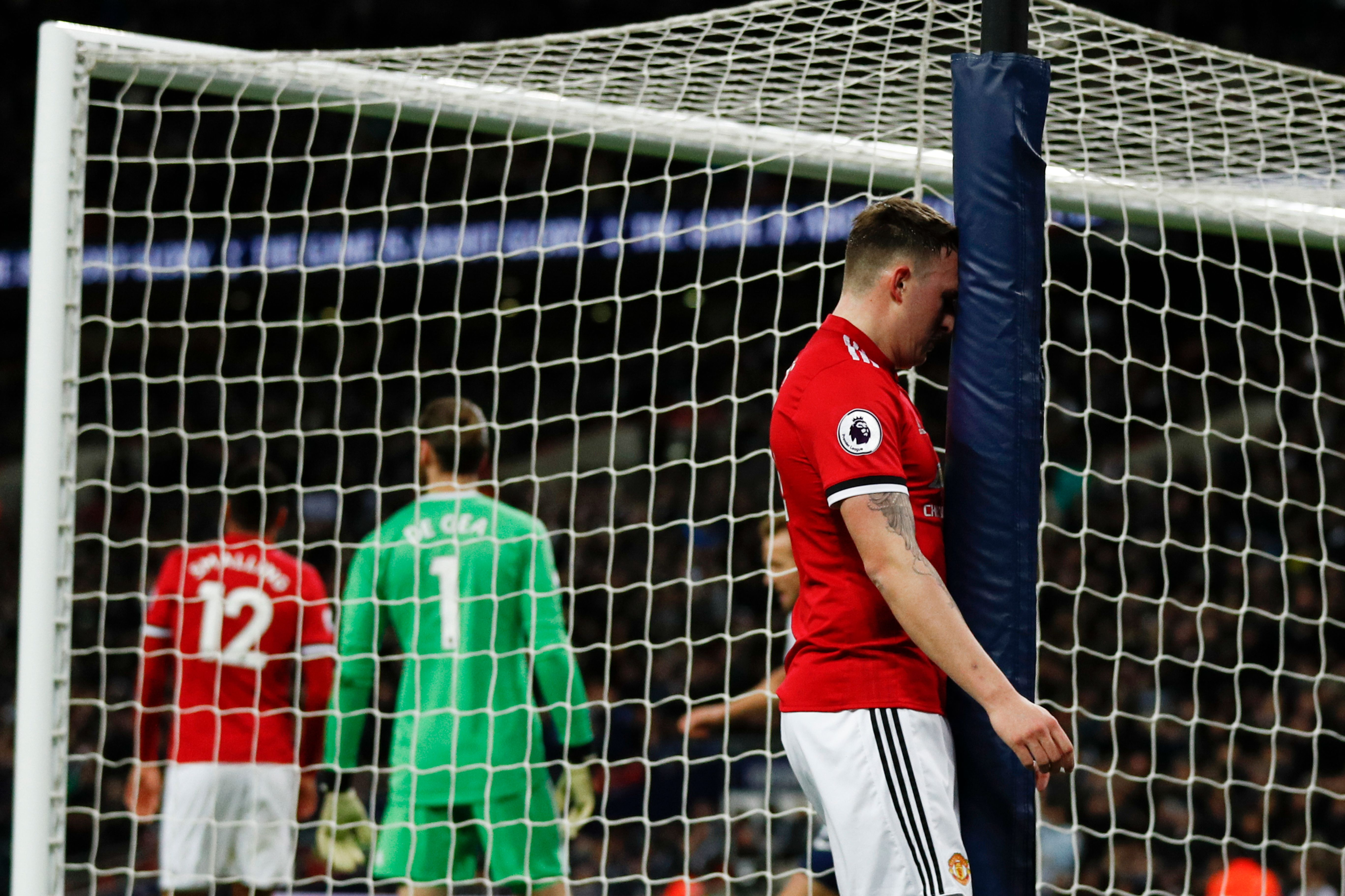 Phil Jones after his own goal at Spurs.