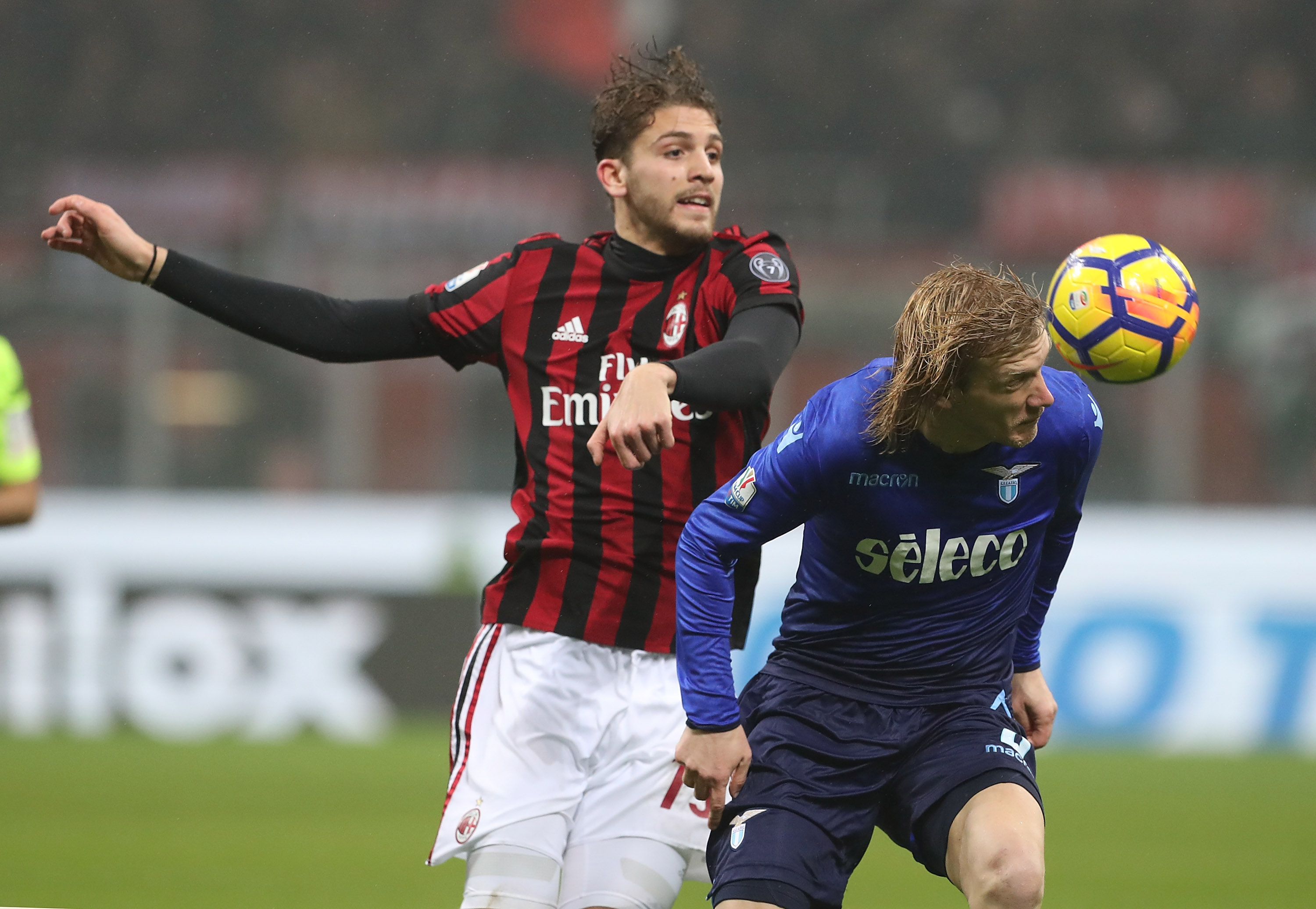 Manuel Locatelli (l) needs to embrace his rare chance to start for AC Milan.