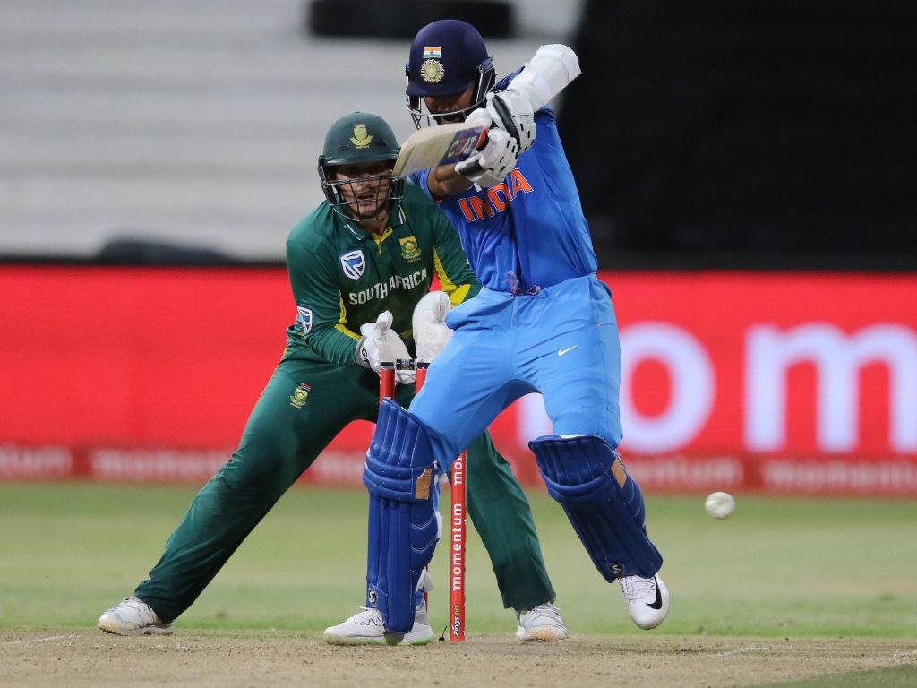 Rahane notched up his fifth consecutive ODI fifty.