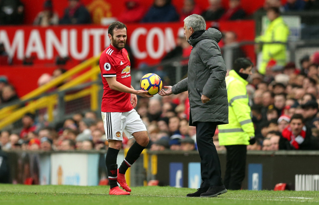Spanish silk: Juan Mata was a standout player against Huddersfield.