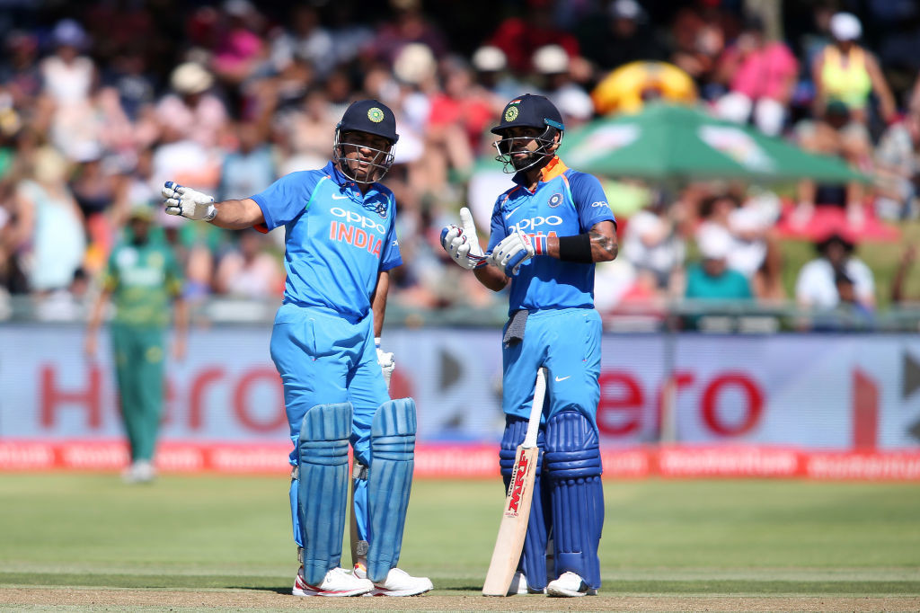 Dhoni struggled to rotate the strike while batting with Virat.