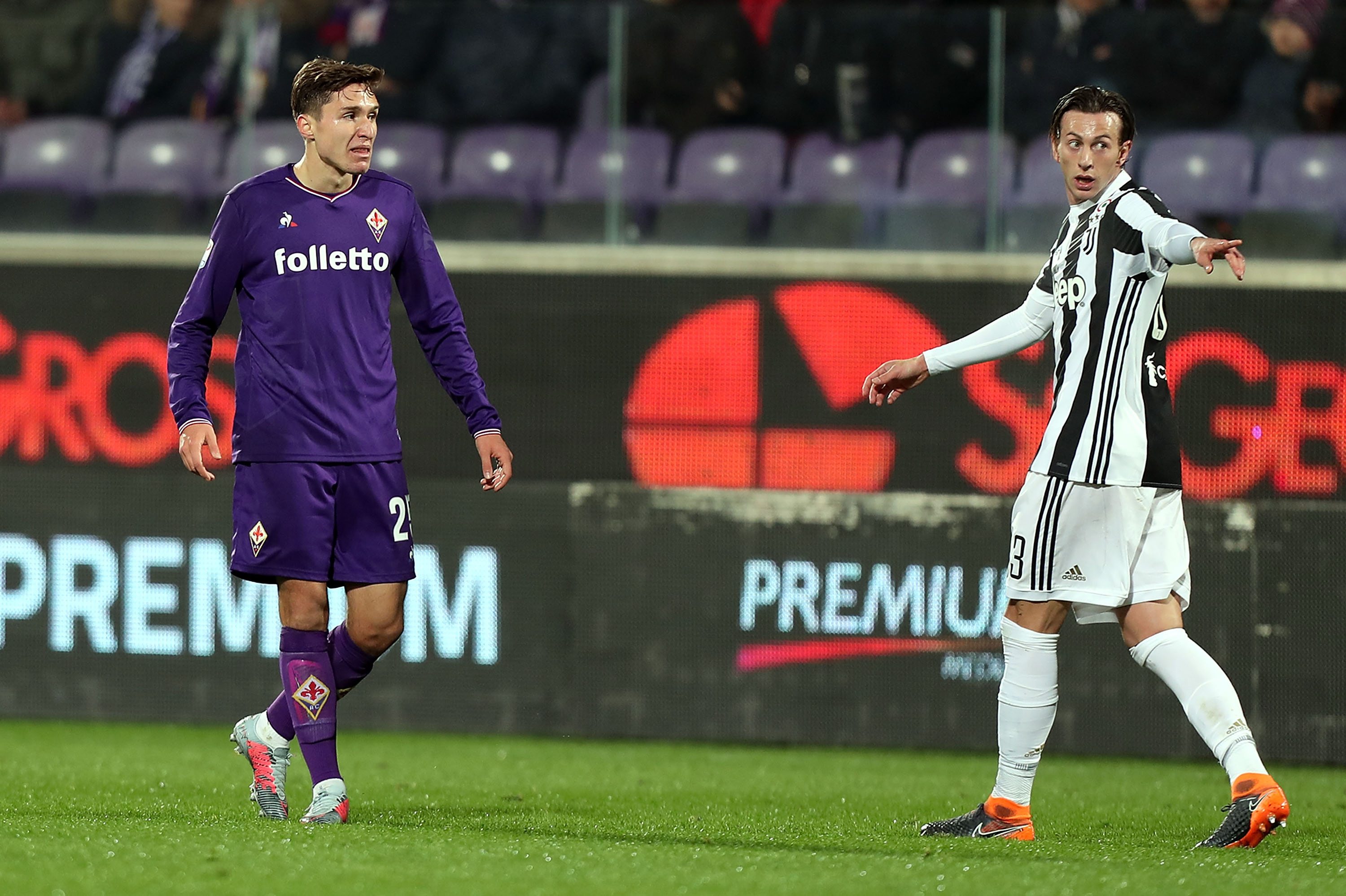 Federico Chiesa (l) has been dropping hints about his future.