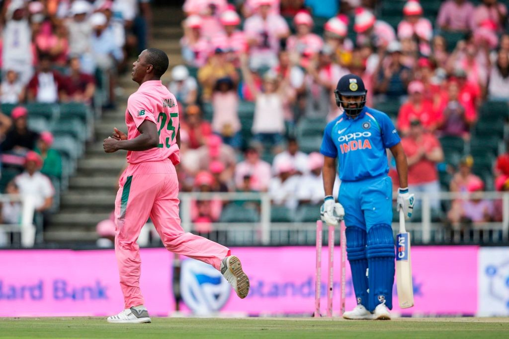 Rohit had endured a torrid time against Kagiso Rabada.