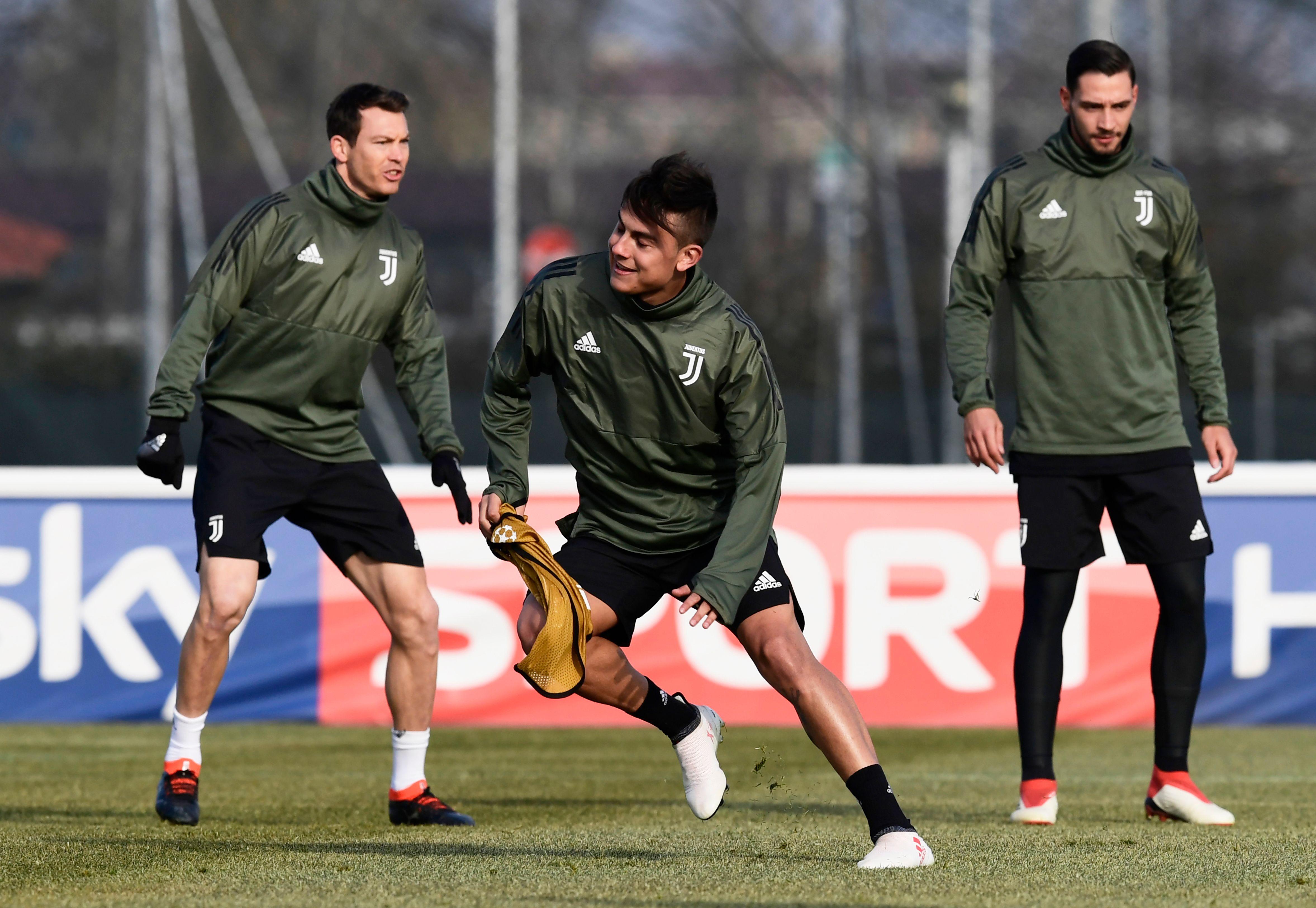 Paulo Dybala at Juventus training.