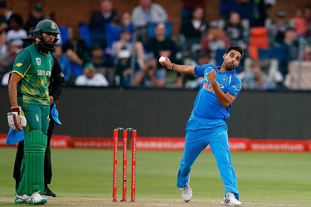Bhuvneshwar looks in need of a rest.