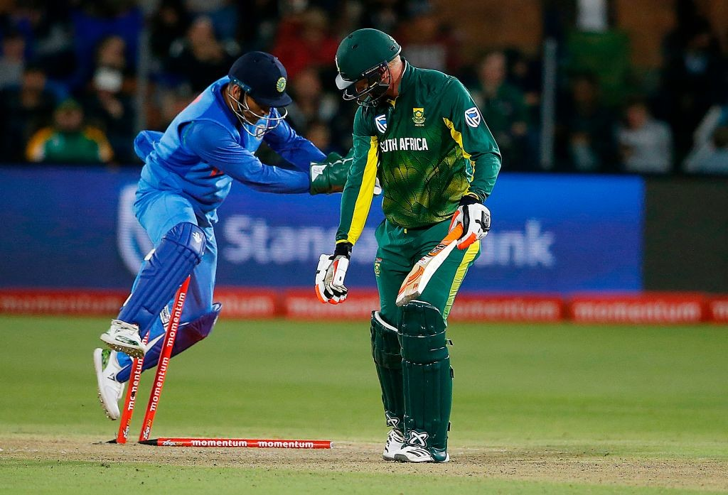 Dhoni's glove-work remains top notch.