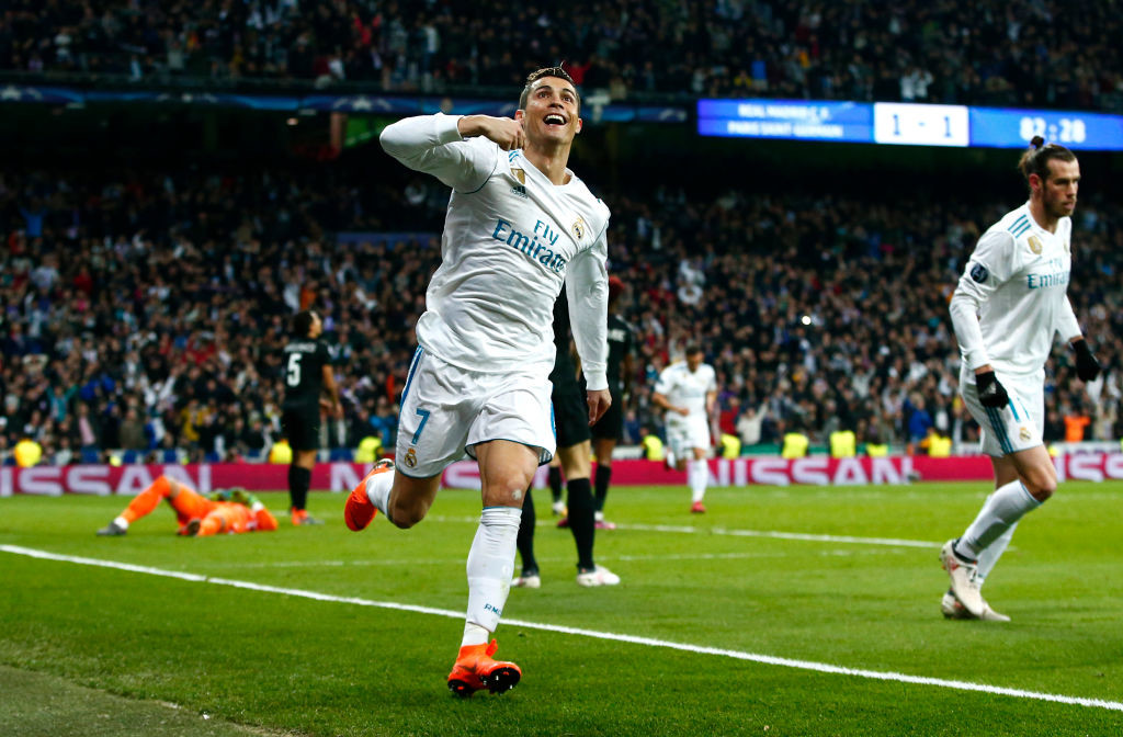 Cristiano Ronaldo score his second