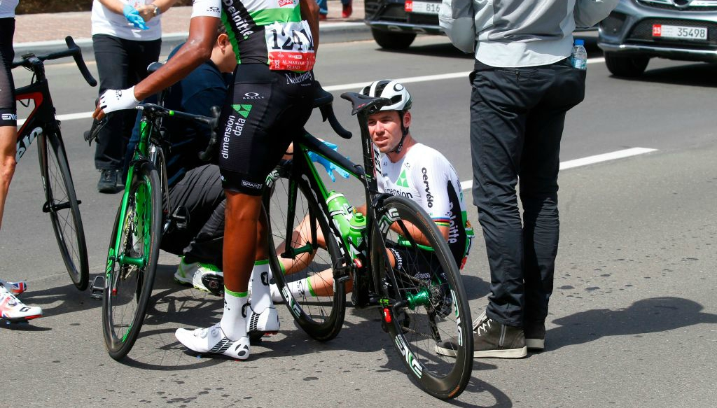 Mark Cavendish out of Abu Dhabi Tour on opening day with concussion