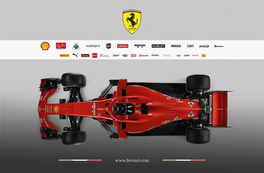 MARANELLO, ITALY - FEBRUARY 22: In this handout photo supplied by Scuderia Ferrari F1, the team unveil their new Ferrari SF71H Formula One car on February 22, 2018 in Maranello, Italy. (Photo by Handout/Getty Images)